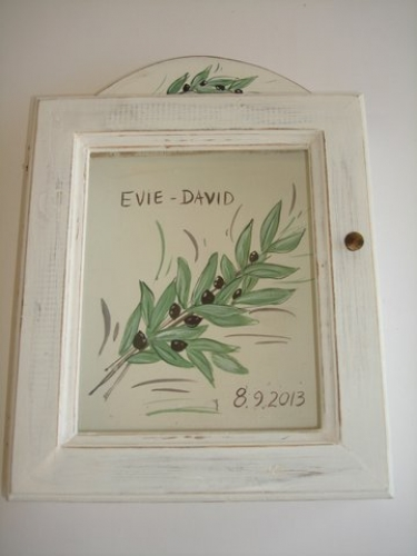 Hand-painted Wreath Box Olives