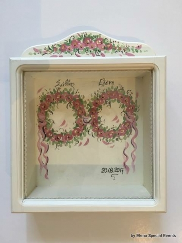 Hand-painted Wreath Box Flower Wreaths