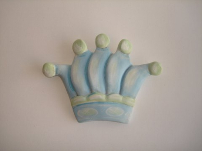 Hand-painted Ceramic Crown for Christening favors.