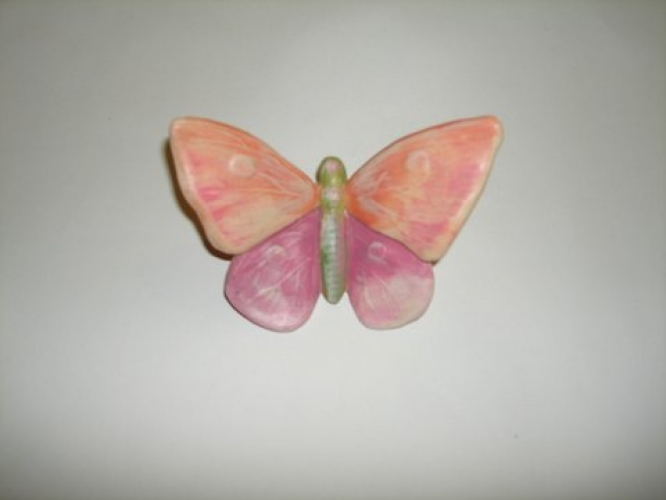 Hand-painted Ceramic Butterfly for Christening favors.