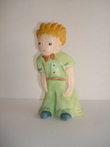 Hand-painted ceramic Little Prince.