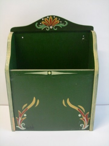 Hand-painted Wooden Letter Box.