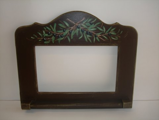 Hand Painted Wooden Mirror