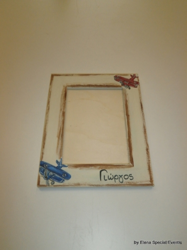 Hand Painted wooden Photo Frame.