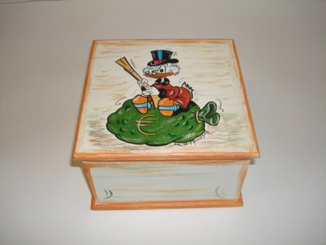 Hand-painted Wooden jewelry box.