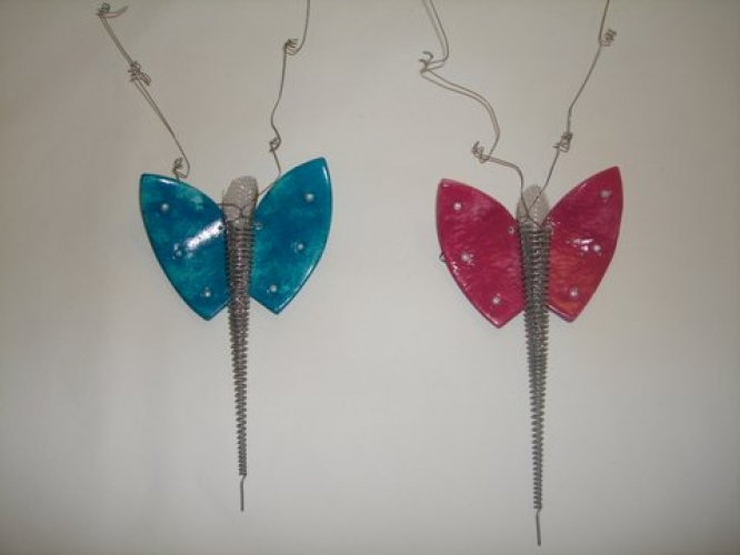 Hand Made Ceramic Butterflies.