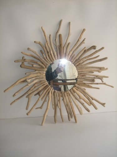 Hand made Sea Wood & Cedar Wood Mirror Sun.