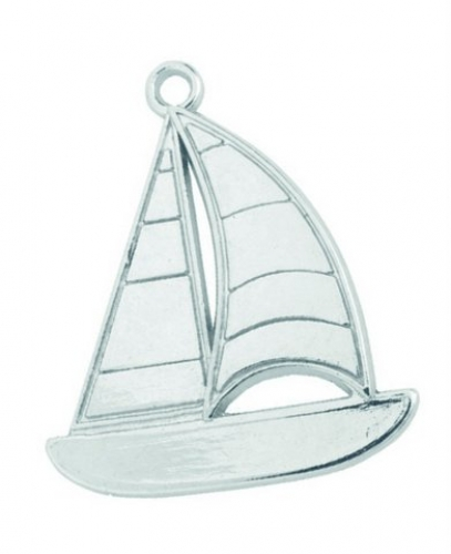 Metal Sailing boat for Christening Favors.