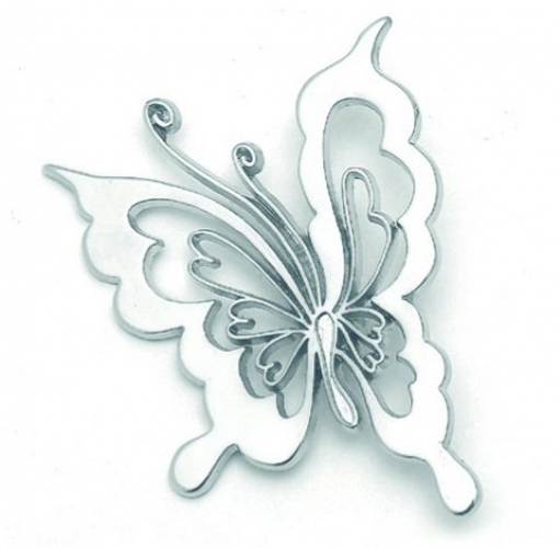 Metal Butterfly for Christening Favors.