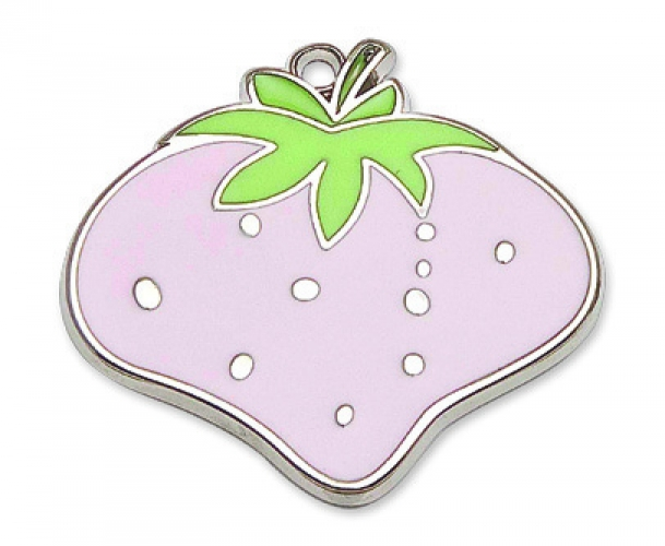Metal Strawberry for Christening Favors.