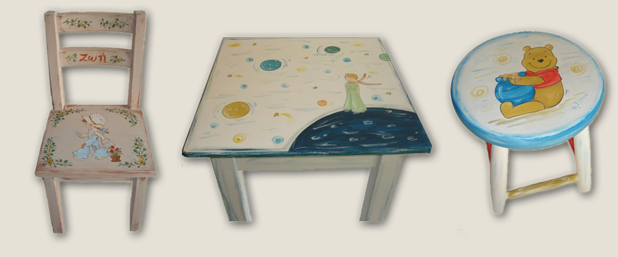 Hand Painted Kids Furniture