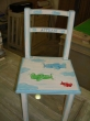 Hand-painted Children's Chair Aeroplanes