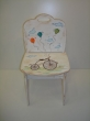 Hand-painted Children's Chairs Vintage Bicycle.