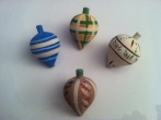 Hand-painted Wooden Spinners for Christening Favors