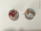 Hand-painted Wooden Yoyos for Christening Favors