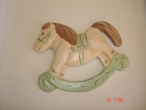 Hand-painted Ceramic Carousel for Christening favors.