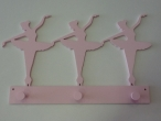 "Hand-painted wooden hanger ""ballerinas""."