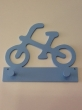 "Hand-painted wooden hanger ""bike""."