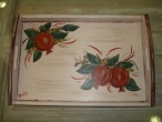 Hand-painted wooden tray.