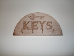 Hand-painted wooden key hanger (bees).