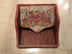 Hand-painted Wooden Napkin Case.