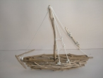 Hand made Sea Wood & Cedar Wood boat.