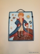 Hand-painted Ceramic Repousse plate Little Prince.